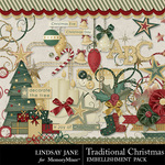 Traditional Christmas LJ Embellishment Pack-$3.49 (Lindsay Jane)