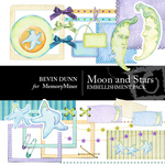 Moon and Stars Embellishment Pack-$3.50 (Bevin Dunn)