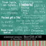 Best Gift of All WordArt Pack-$2.49 (Jumpstart Designs)