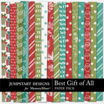 Best Gift of All ADD ON Paper Pack-$3.99 (Jumpstart Designs)
