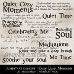 Cozy Quiet Moments WordArt Pack-$2.99 (Jumpstart Designs)
