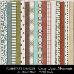Cozy Quiet Moments Paper Pack-$2.99 (Jumpstart Designs)