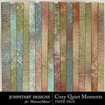 Cozy Quiet Moments ADD ON Paper Pack-$2.99 (Jumpstart Designs)