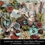 Cozy Quiet Moments Embellishment Pack-$2.99 (Jumpstart Designs)