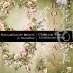 Christmas Rose Border Pack-$1.99 (MagicalReality Designs)