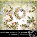 Christmas Rose Cluster Pack 1-$1.99 (MagicalReality Designs)