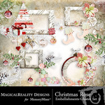 Christmas Rose Cluster Pack 2-$1.99 (MagicalReality Designs)
