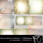 Christmas Rose Paper Pack 1-$3.99 (MagicalReality Designs)
