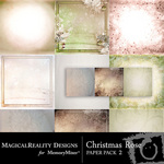 Christmas Rose Paper Pack 2-$3.99 (MagicalReality Designs)