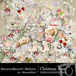 Christmas Rose Embellishment Pack-$3.49 (MagicalReality Designs)