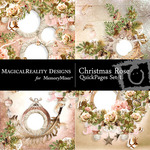 Christmas Rose QUICK PAGE QuickMix 1-$3.49 (MagicalReality Designs)