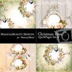 Christmas Rose QUICK PAGE QuickMix 4-$3.49 (MagicalReality Designs)