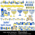 Hanukkah Embellishment Pack-$2.99 (Tara Reed Designs)
