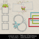 Merry Christmas LJ Frame Pack-$1.99 (Lindsay Jane)