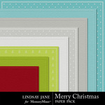 Merry Christmas LJ Embossed Paper Pack-$2.49 (Lindsay Jane)