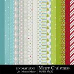 Merry Christmas LJ Paper Pack-$3.99 (Lindsay Jane)