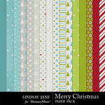 Merry Christmas LJ Paper Pack-$3.99 (Lindsay Jane)