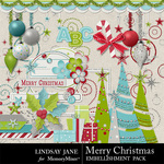 Merry Christmas LJ Embellishment Pack-$3.99 (Lindsay Jane)
