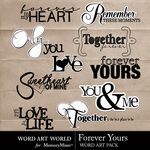 Forever Yours WordArt Pack-$2.49 (Word Art World)