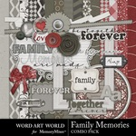 Family Fun Memories Combo Pack-$5.25 (Word Art World)