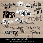 Girls WordArt Pack-$2.49 (Word Art World)