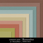 Remember LJ Embossed Paper Pack-$1.25 (Lindsay Jane)