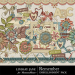 Remember LJ Embellishment Pack-$3.49 (Lindsay Jane)