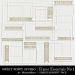 Frame Essentials Number 1 Pack-$2.49 (Sweet Poppy Studio)