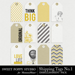 Shipping Tags Number 1 Pack-$1.99 (Sweet Poppy Studio)