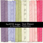 Just Dance Embossed Paper Pack-$2.49 (Ettes and Company by Fayette)