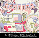 Just Dance Extra Embellishments-$2.49 (Ettes and Company by Fayette)