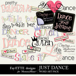 Just Dance Word Art Pack-$2.49 (Fayette Designs)