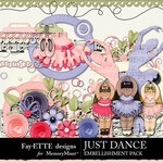Just Dance Embellishment Pack-$3.99 (Ettes and Company by Fayette)