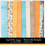 Sweet and Simple Paper Pack-$3.99 (Ettes and Company by Fayette)