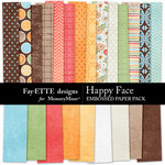 Happy Face Paper Pack-$2.99 (Fayette Designs)