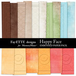 Happy Face Embossed Paper Pack-$2.99 (Ettes and Company by Fayette)