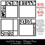 Happy Face Big Words-$3.99 (Fayette Designs)