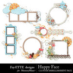 Happy Face Cluster Pack-$2.49 (Ettes and Company by Fayette)