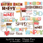 Happy Face Word Art Pack-$2.49 (Ettes and Company by Fayette)