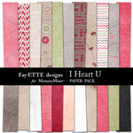 I Heart U Paper Pack-$3.99 (Ettes and Company by Fayette)