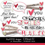 I Heart U Word Art-$2.49 (Ettes and Company by Fayette)
