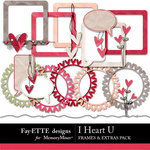 I Heart U Frames and Extras-$2.49 (Ettes and Company by Fayette)