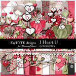 I Heart U Combo Pack-$7.99 (Fayette Designs)