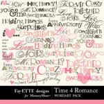 Time 4 Romance Word Art-$2.49 (Ettes and Company by Fayette)