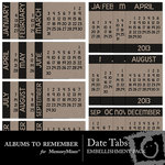 Date Tabs Embellishment Pack-$1.99 (Albums to Remember)