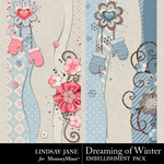 Dreaming of Winter Border Pack-$1.99 (Lindsay Jane)