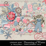 Dreaming of Winter Embellishment Pack-$3.49 (Lindsay Jane)