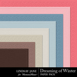 Dreaming of Winter Embossed Paper Pack-$2.49 (Lindsay Jane)