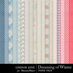 Dreaming of Winter Paper Pack-$3.99 (Lindsay Jane)