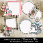Flurries of Fun Cluster Pack-$2.49 (Jumpstart Designs)